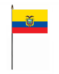 Ecuador Country Hand Flag - Small.